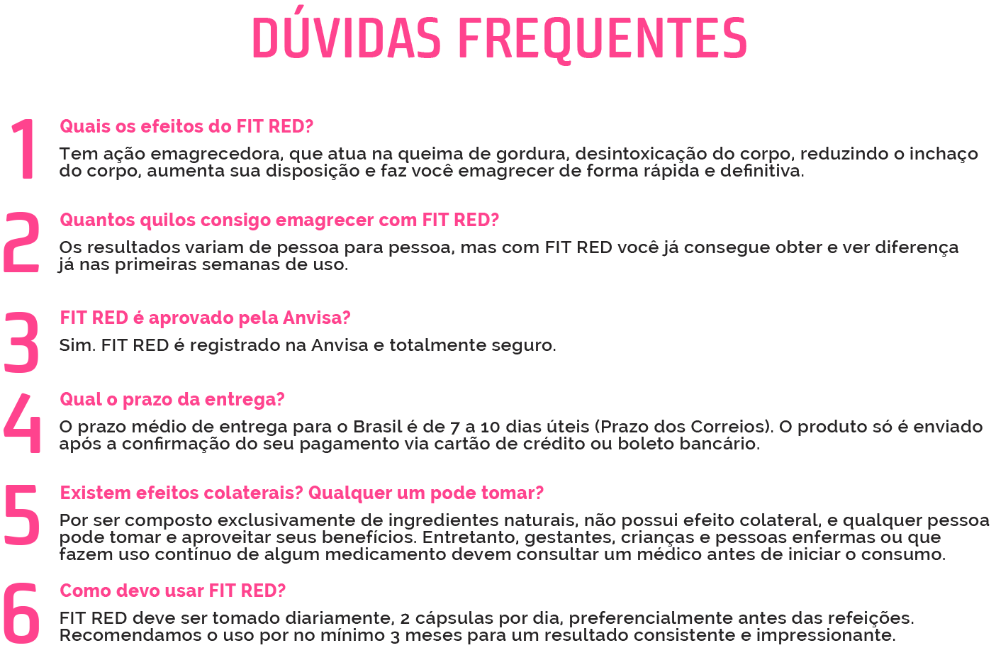 Fit Red - Duvidas Frequentes